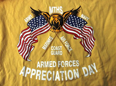 1st Annual MTHS Armed Forces Appreciation Day, May 22, 2015,at Hugh Walsh Stadium Veterans, Student Teams, Military Reps,....all combined for a wonderful event.