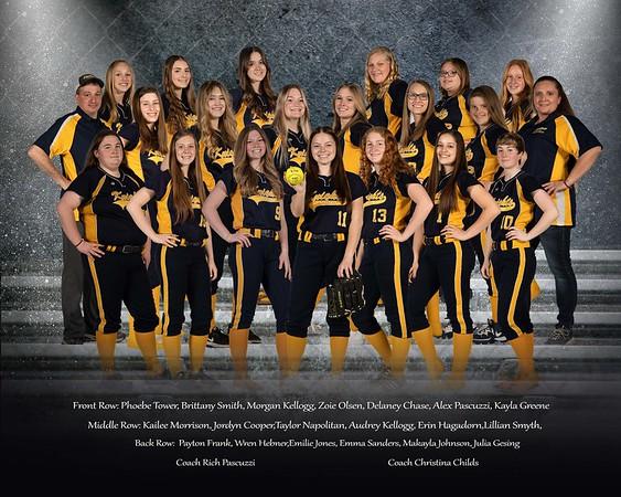 EHS Lady Kights Softball Team Portraits 2021