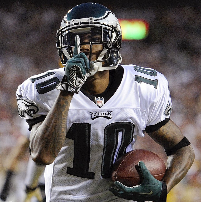 ". <p>5. DESEAN JACKSON <p>Not a gang banger. Just an overpaid malcontent, like most big-time wide receivers. (1) <p><b><a href=\'http://www.washingtonpost.com/blogs/early-lead/wp/2014/03/29/desean-jackson-not-involved-in-gang-violence-lapd-says/\' target=""_blank\""> HUH?</a></b> <p>    (AP Photo/Nick Wass)"
