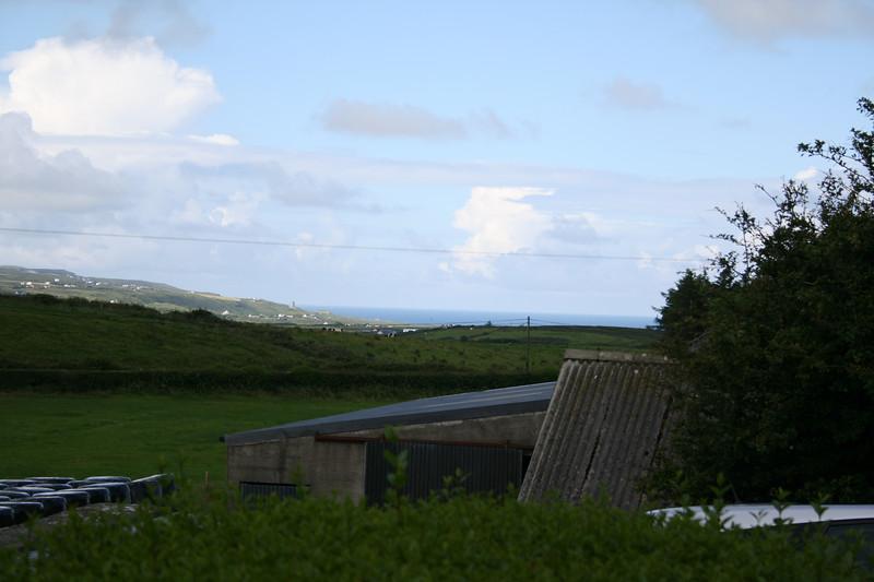 Lisdoonvarna, Ireland - that's the Irish Sea in the background.