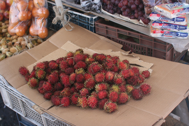 Lychee at the market in Quito