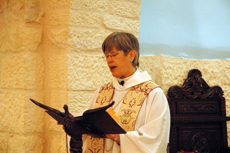 Bishop Marie Jerge, ELCA Upstate New York Synod, preached at the Bishops' Academy concluding worship Jan. 13 at the Evangelical Lutheran Church of the Reformation, Beit Jala, West Bank.