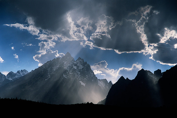 <B>THIRD PRIZE</B> Teton Light Grand Teton National Park submitted by: Marc Hester from USA