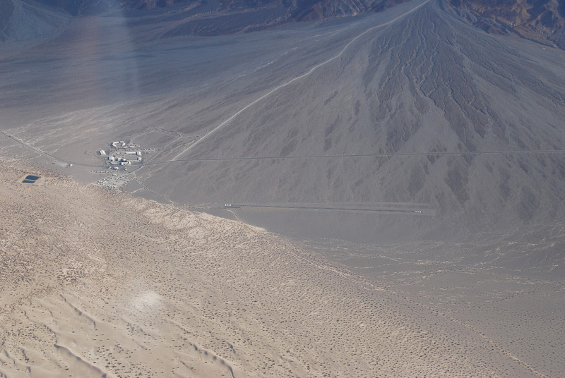 Stovepipe Wells resort and airport, northwest side of Death Valley