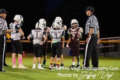 10-01-2018 Rockville Football League Pee Wee Seminoles vs Raiders at King Farm Park Rockville MD, Photos by Jeffrey Vogt Photography