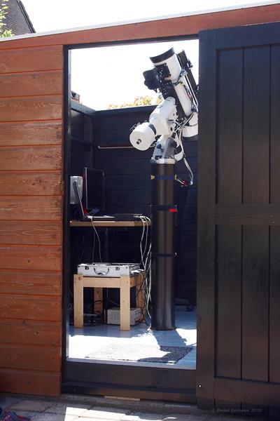 De sterrenwacht klaar voor gebruik