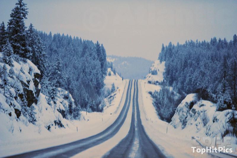 Snowy Scenes in Troy, Montana, USA