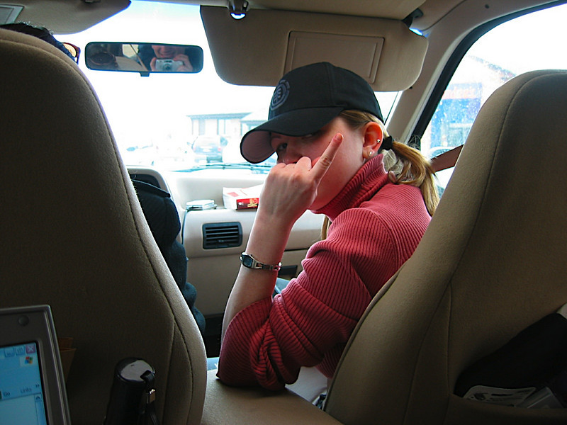 2. Steph in the car.JPG