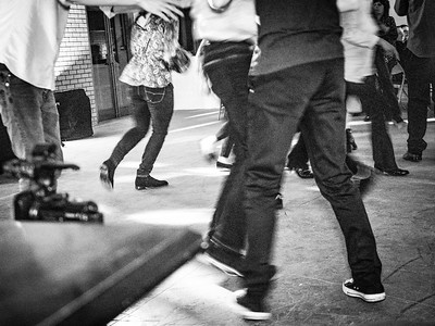 The Village Ceilidh - In Black and White
