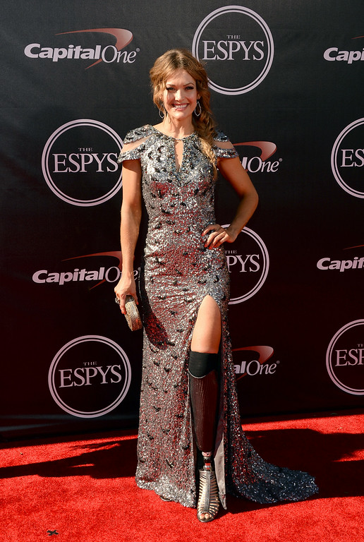 . LOS ANGELES, CA - JULY 16:  Paralympian Amy Purdy attends The 2014 ESPYS at Nokia Theatre L.A. Live on July 16, 2014 in Los Angeles, California.  (Photo by Jason Merritt/Getty Images)