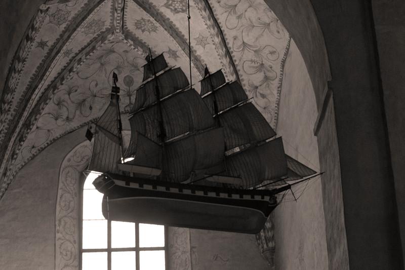 Sail ship in Turku TuomioKirkko