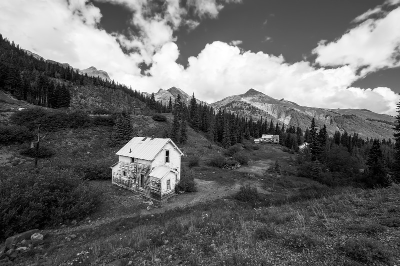 Abandoned Home in Silverton in Black and White
