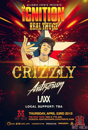 Crizzly Ignition Tampa Real Thugzs Tour