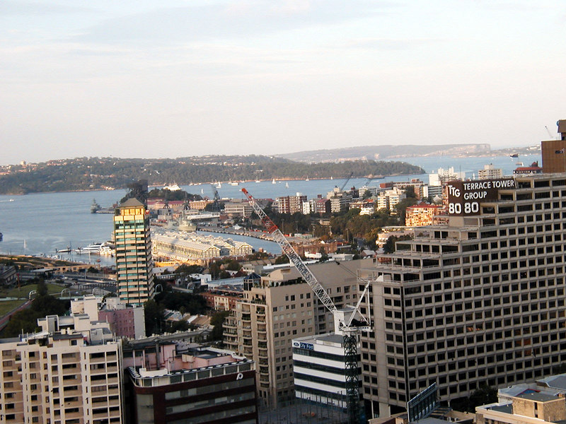Can you find the Manly Ferry?  Look above and to the left of the Terrace Tower Group sign