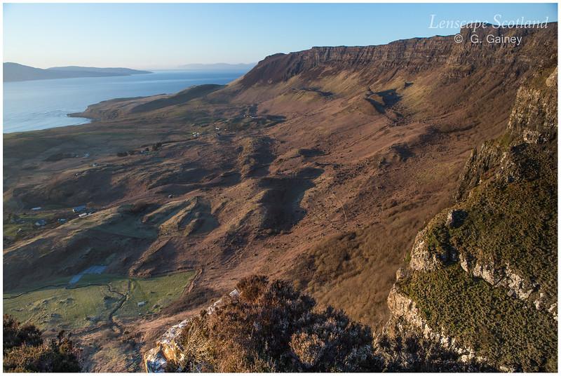 Cleadale inland cliffs