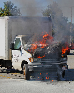 Auburn, ME. Van fire