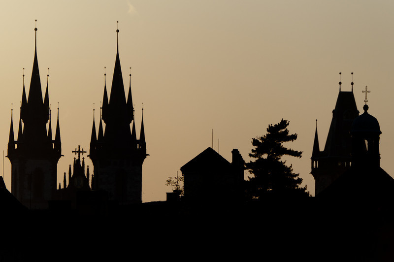 Silhouette at Prague, Czech Republic