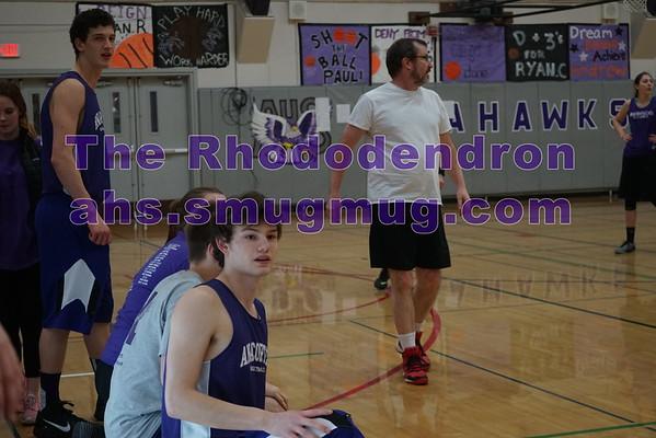Senior vs Staff Basketball game