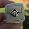 1.02ct Round Brilliant Diamond Bezel Ring 17