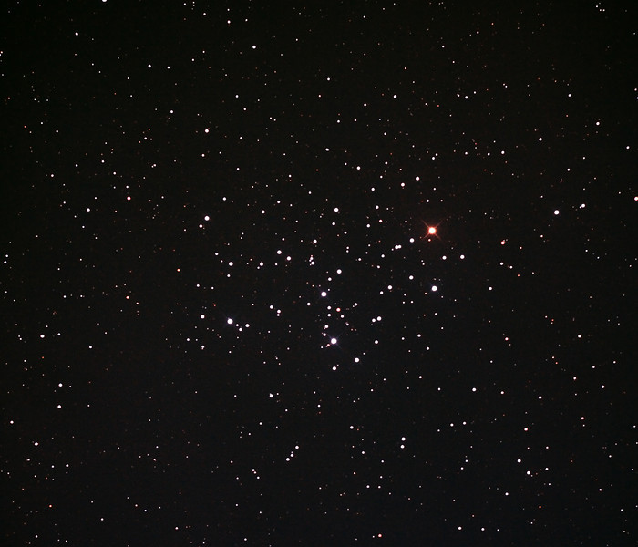 Messier M6 - NGC6405 - Butterfly Cluster in Scorpius - 14/10/2013 (Processed cropped stack)