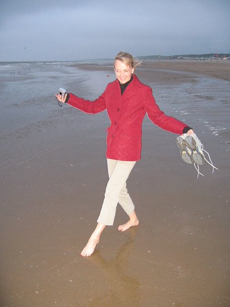 Michelle frolics in the North Sea