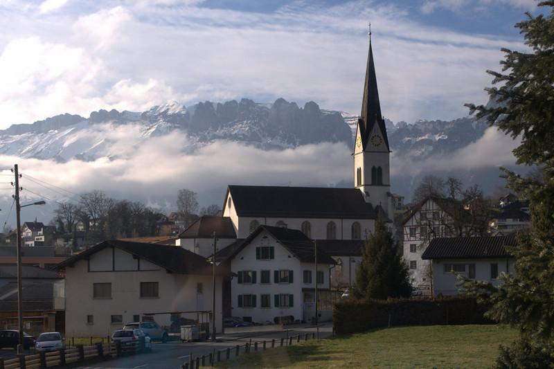 Liechtenstein church and mountains.jpg