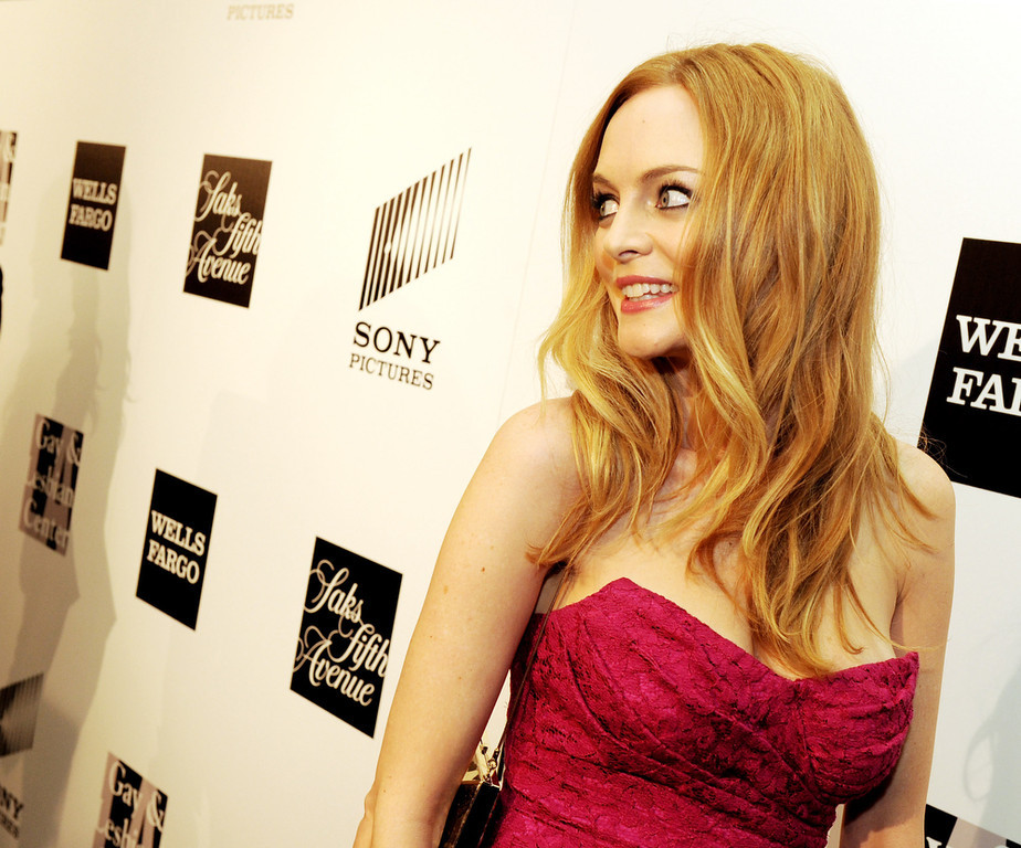 ". Actress Heather Graham arrives at ""An Evening\"" benifiting The L.A. Gay & Lesbian Center at the Beverly Wilshire Hotel on March 21, 2013 in Beverly Hills, California.  (Photo by Kevin Winter/Getty Images)"