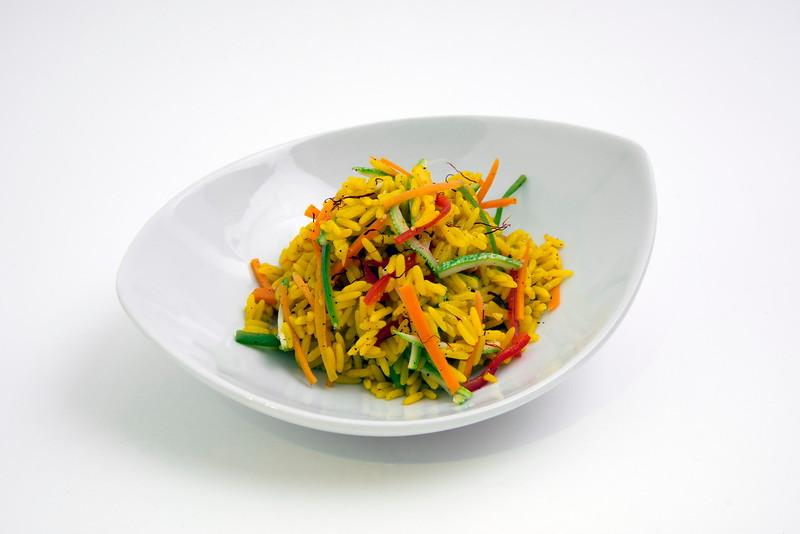 Wok de arroz  y vegetales