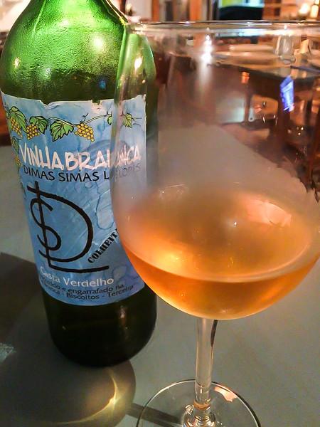 Local Azorean wine