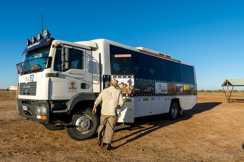 Outback Aussie Tours bus