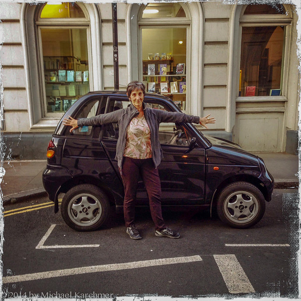 Big car, little Suz (or Big Suz, little car) (May, 2014)