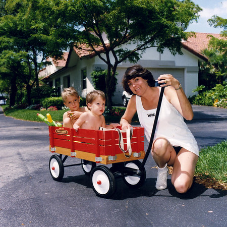 Wilson family, Leigh, Robin, Brennen, Daniel, the early years, cerca 1988-1993, Tampa and Boca Raton, FL