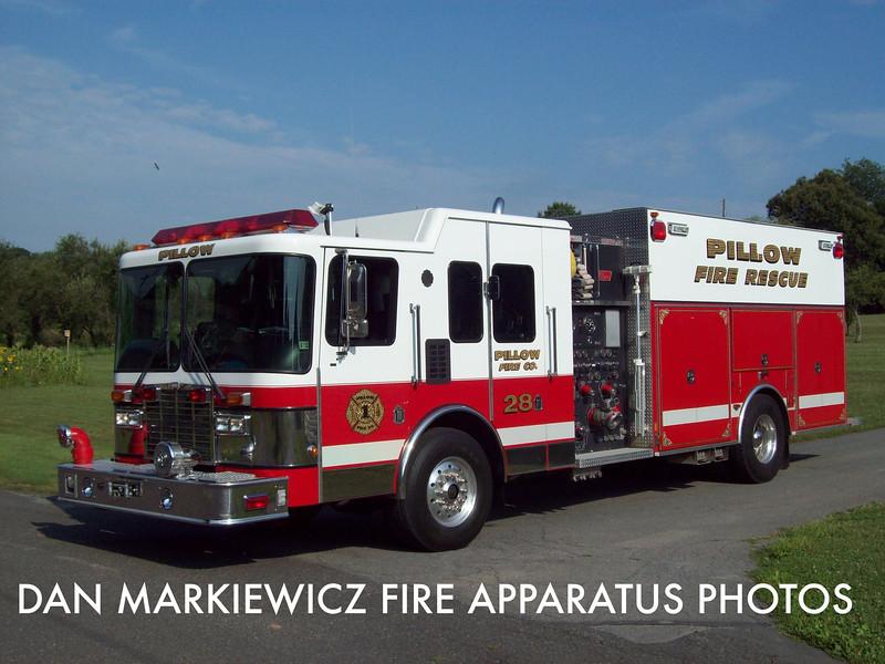 PILLOW FIRE CO. RESCUE 28 2000 HME/NEW LEXINGTON PUMPER RESCUE