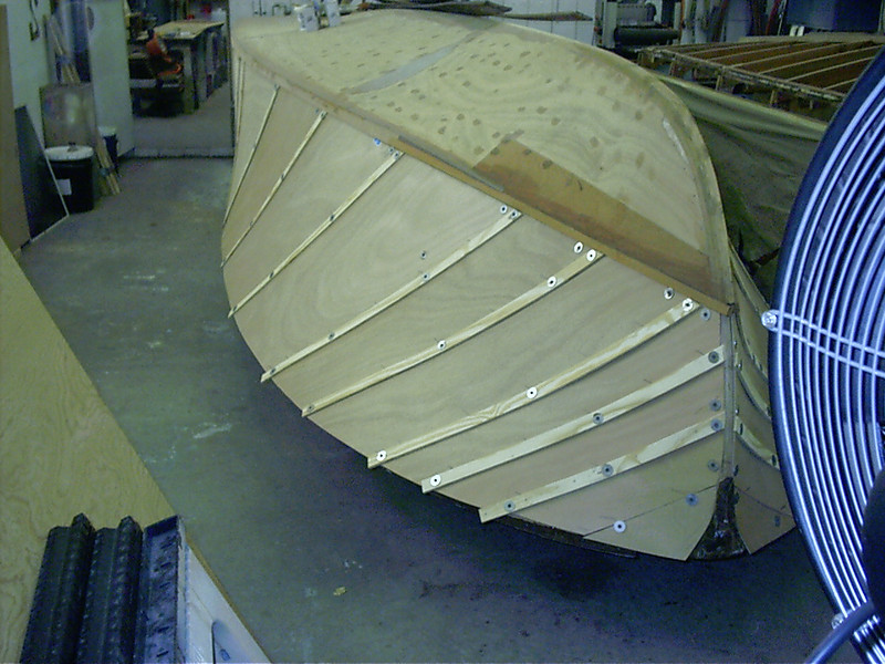 Port side plywood fit.