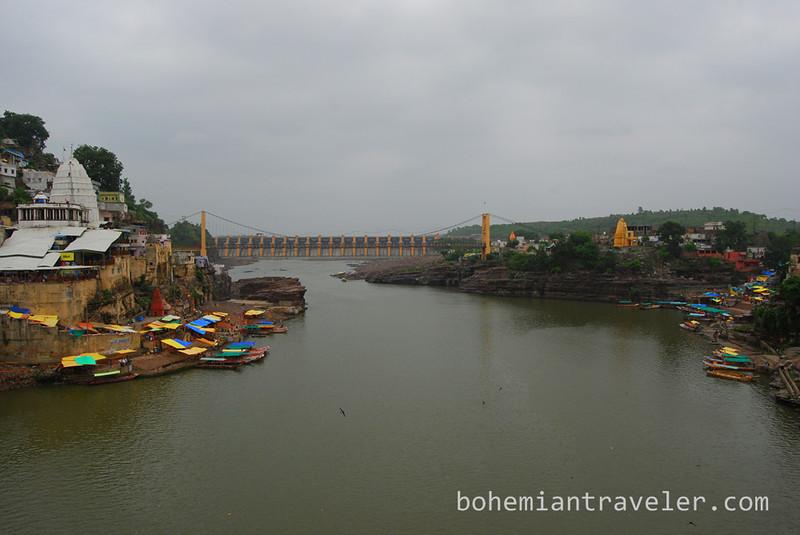 Omkareshwar India view from bridge.jpg