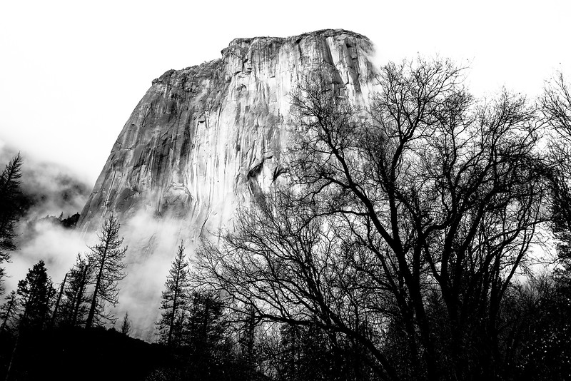 El Capitan in the mist