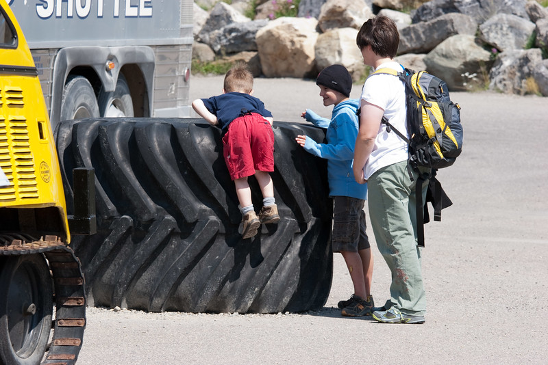 Playing on a Tire