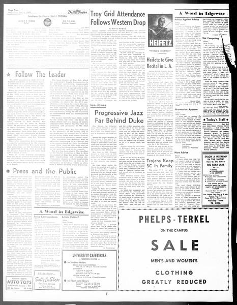 Daily Trojan, Vol. 40, No. 70, January 06, 1949
