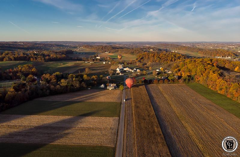 1556 - Autumn 2018 - Sunrise Balloon Landing Landscape