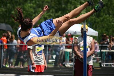 D3 Girls High Jump - 2013 MHSAA LP Track and Field Finals