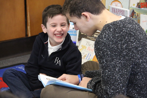 National Read Aloud Day   Grade 8 & K Buddies