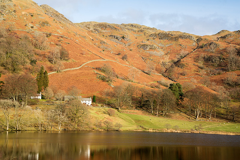 Loughrigg Tarn In The English Lake District