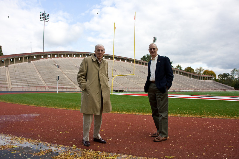 My grandfather and father at Schoellkopf Stadium at Cornell College, Ithaca, NY.