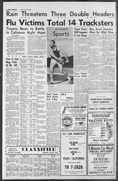 Daily Trojan, Vol. 54, No. 106, April 26, 1963