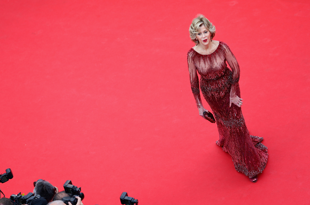 ". Jane Fonda attends the Opening ceremony and the ""Grace of Monaco\"" Premiere during the 67th Annual Cannes Film Festival on May 14, 2014 in Cannes, France.  (Photo by Vittorio Zunino Celotto/Getty Images)"