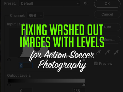 Fixing Washed Out Images for Action Soccer Photography