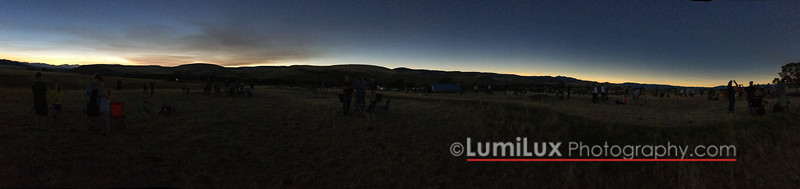 Totality! I was not expecting the 360deg sunset. This is as dark as it got. Amazing !