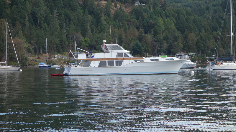 Our friends...Chuck and Laura Munger's boat the Lady L...62 foot yacht