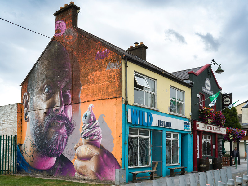 Painting on the wall of a shop, Kings Island, Limerick, County Limerick, Ireland
