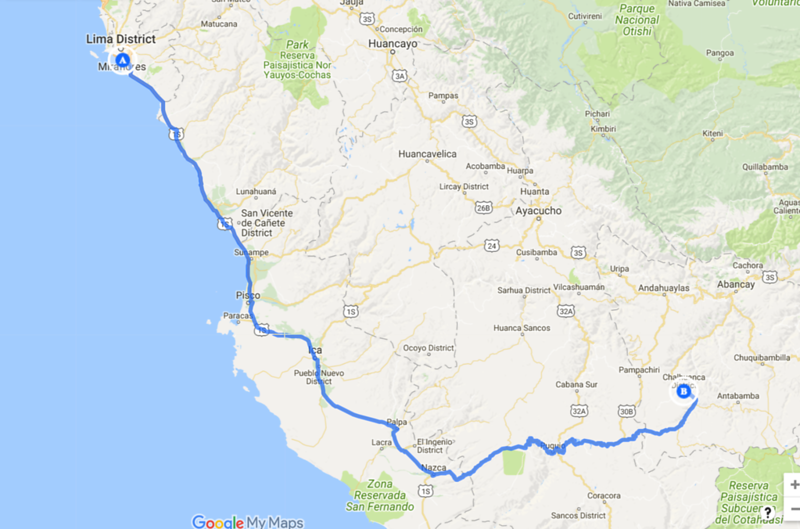 Lima to Chalhuanca.png
